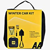 AA Winter Car Kit AA3386 - Folding Snow Shovel, LED/COB Torch, Foil Blanket, Hi-Vis Vest - Zipped Storage Bag – Suitable for Any Vehicle or Home