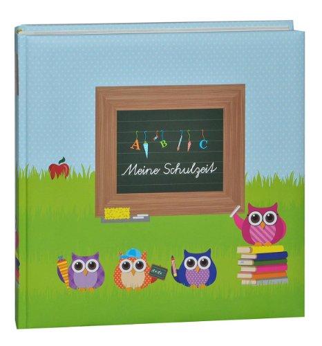 Fotoalbum Eulen -  Meine Schulzeit  - Gebunden zum Einkleben blanko - groß für bis zu 180 Bilder - Fotobuch / Photoalbum / Album - Schulanfang für Mädchen J..