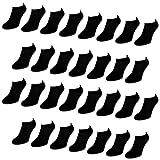 30 Paar Comfort Sneaker Socken - Schwarz - Damen und Herren - 40-46 - Naft