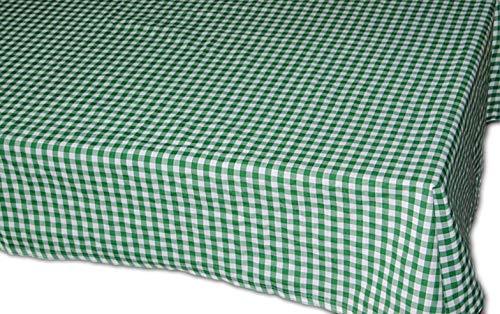 Pflegeleichte Tischdecke Decke Unterdecke Grün Weiß Karierte Gartendecke Küchendecke Landhaus (Tafeltuch 160x220 cm rechteckig)