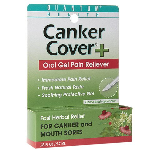 Quantum Health Herbal Canker Care + Oral Pain Reliever 0.33 oz(pack of 2) (0.33 Ounce Canker Care)