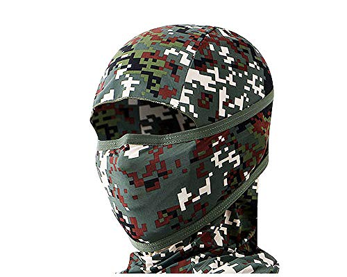 Outdoor Motorcycle Full Face Mask Balaclava Ski Neck Protection Clothing Neck Gaiter Bandana, Lightweight & Breathable Hiking, Fishing Mask, (Dot-Military)