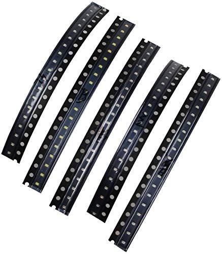 0603SMD LED, Color Rojo/Amarillo/Verde/Blanco/Azul diodos emisores de luz), color negro (100Pcs)