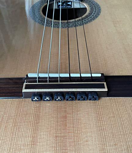Alba Guitar Beads String Tie Guitar Retenedores de cuerda de nailon para guitarra acústica eléctrica clasica flamenco ukulele negros