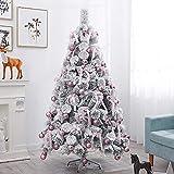 Árbol de Navidad, Árbol de Navidad Cubierto de Nieve, Party Premium Decoraciones Artificiales, 1. 8m(6ft) Pino Fibra óptica Caliente de Metal Blanco (Color : White, Size : 2.4m(8ft))