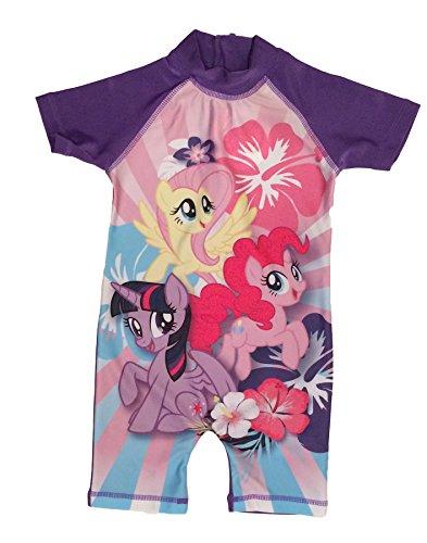MLP My Little Pony Surfanzug, Schwimmanzug, Alter 18/24 Monate, 2/3, 3/4, 4/5 Jahre Gr. 18-24 Monate, violett
