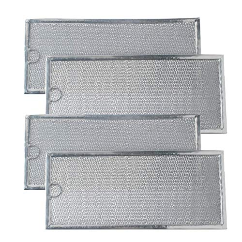 Podoy WB06X10596 Microwave Grease Filter Compatible with GE General Electric Hotpoint Replaces 1085087, AP3792368, AF4318 (Pack of 4)