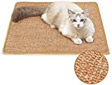 kuou Cat Scratching Mat, Natural Sisal Mat Cat Scratcher Mat Pads Rug Cat Grinding Claws Mat for Protect Carpets and Sofas Durable and Safe Will Not Harm Cat Paws