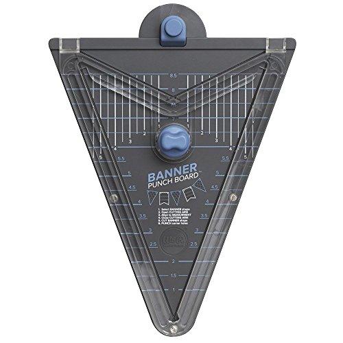 Banner Punch Board von We R Memory Keepers, für Wimpel und Girlanden, grau/blau