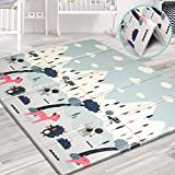 Aitere Baby Spielmatte,200 x 180 x 1,5 cm, faltbare Baby Bodenmatte, umweltfreudliches XPE Material, beide Seiten bespielbar, wasserdicht und ungiftig