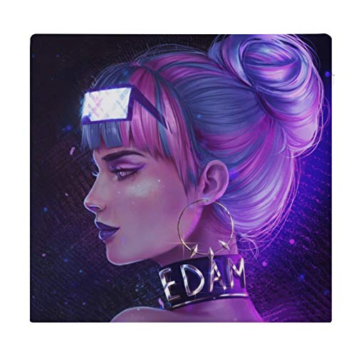 NiYoung Seat Cushion, Office Chair Wheelchair Car Cushion Floor Pad - Psychedelic Gothic Girl Art Cushion, Comfort Chair Cushion Lumbar Pillow for Lumbar Support/Backrest