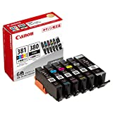 Canon 純正 インクカートリッジ BCI-381(BK/C/M/Y/GY)+380 6色マルチパック 小容量タイプ BCI-381+380s/6MP 長さ:4.33cm 幅:11.4cm 高さ:10.35cm