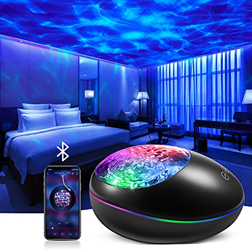 Star Projector, Galaxy Night Light Projector Bedroom Kids White Noise Music Bluetooth Starlight, Ocean Wave Lamp Nebula Timer Sensory Lullaby Led Starry Ceiling Baby Adults Teen Gifts Room Remote