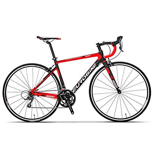Bicicleta de Carretera de Carbono, Ciclismo Ultraligero de 16 Velocidades, Ruedas 700C con Cambio De Freno De Disco Doble Bicicleta De Carretera, para Entusiastas del Ciclismo