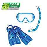 ReefTourer Adult Single-Window Mask, Snorkel & Fin Traveling Set 141[並行輸入]
