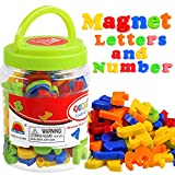 Magnetic Letters Numbers Alphabet ABC 123 Fridge Magnets Plastic Toy Set for Kids Educational Toys Preschool Learning Spelling Counting Uppercase Lowercase Math Symbols for Toddlers 3 Years Old & Up