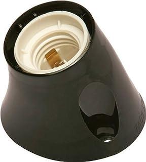 Electraline 71108 Inclined Wall Socket E27 Black
