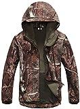 Kelmon, giacca da uomo con cappuccio, in tessuto softshell tree Medium