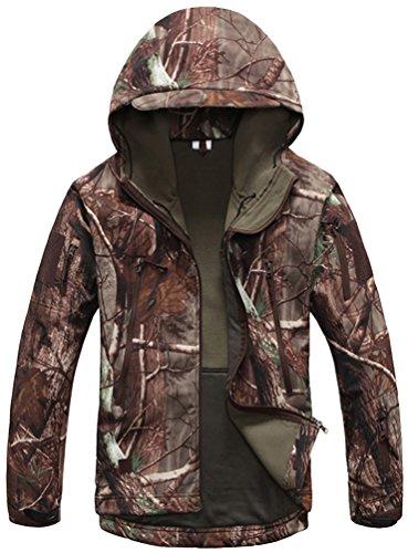 Kelmon, giacca da uomo con cappuccio, in tessuto softshell tree X-Large