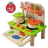 Jouet en Bois - Jeu d'imitation - Cuisine en bois avec Accessoires, Cuisine - Mobile...