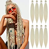 [MULTI PACKS DEAL] Spetra Platinum Blonde Pre Stretched Braiding Hair Extensions 24 inch - 8 Bundles Synthetic Crochet Braids, Knotless Natural EZ Box Braids Hair Professional Soft Yaki Straight (613)