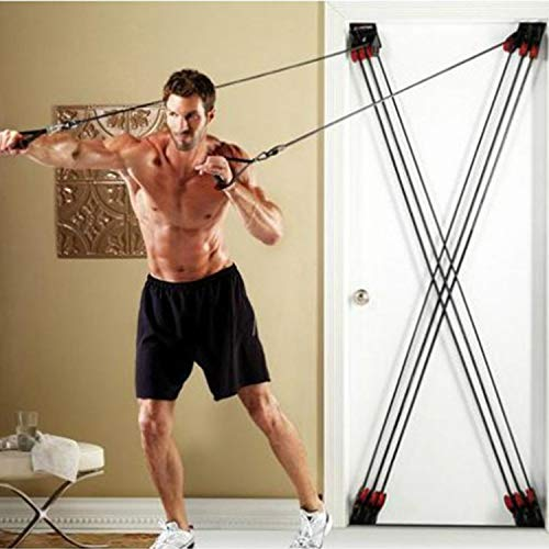 WSXX X-Type Pull Rope, Fitness Resistance Rope Pull Training Belt On All-Round Rally Door