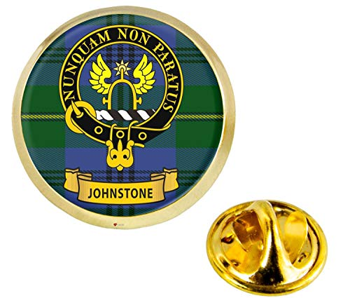 Johnstone Scottish Clan Crest Lapel Pin Badge in Gold Colour Product Of Scotland