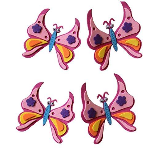 Set de 3 Nursery Stickers muraux pour décoration de la chambre Butterfly Style