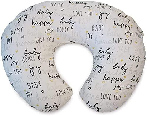 Chicco 06079902630000 BOPPY - Cuscino per allattamento con rivestimento in cotone, motivo Hello Baby, colore: Bianco