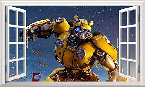 Chicbanners V378 Wandtattoo, Motiv Transformers Bumblebee, selbstklebend, Größe 1000 mm breit x 600 mm tief