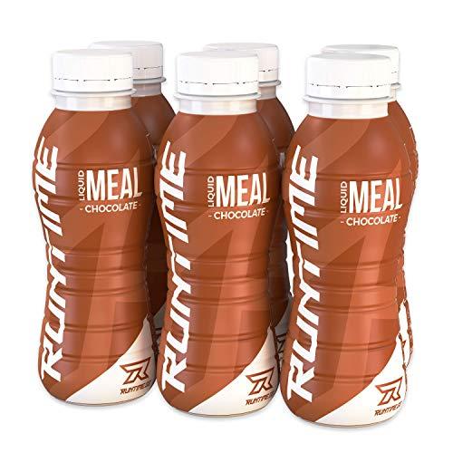 Runtime Liquid Meal - Chocolate | Vollwertiger Mahlzeitersatz, lange Sättigung & Leistungsfähigkeit | 23 Vitamine & Mineralien | 6 x 330ml