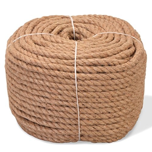 vidaXL Corde 100% Jute 10 mm 100 m Cable de Construction Maison Jardin