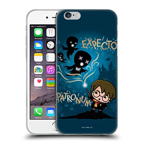 Head Case Designs Oficial Harry Potter Expecto Patronum Deathly Hallows III Carcasa de Gel de Silicona Compatible con Apple iPhone 6 / iPhone 6s