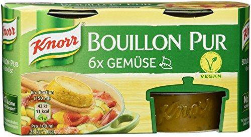 Knorr Bouillon Pur Gemüse vegan, 4 x 168 g