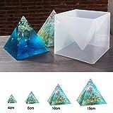 Ritapreaty pirámide Molde de Silicona 15 CM DIY Ornamento decoración Molde de Color epoxi Crema Seca Flor Molde