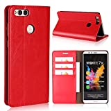 Huawei Mate SE Wallet Case,Jaorty Premium Leather Folio Flip Full Body Case Cover Book Design with Kickstand Feature with Card Slots/Cash Compartment for Huawei Honor 7X - Red