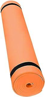 """IZHH Pilates Yoga Mat Fitness,1/4"""" Thick High Density Deluxe Non Slip Exercise for All Ages Adult Children Men Women,68"""" Super Long,Womens Exercise Mats (Orange)"""