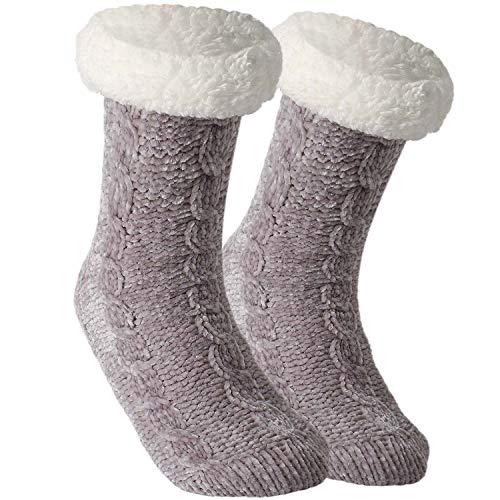 Tacobear Zapatillas Casa Mujer Calcetines Antideslizantes Cálido Calcetines...