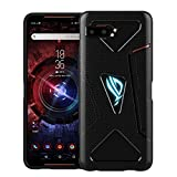 Redluckstar ROG Phone 2 Case Cover, [Shoulder Triggers Cooling Vent RGB Light Compatible] Ultra Slim Thin TPU Silicone Bumper Case Accessory for Asus ROG Phone 2 (ROG Phone II) 2019 (Black)