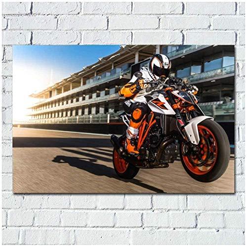 MKAN Motocicleta KTM 1290 Superbike Sport Picture Wall Art Poster, Canvas Wall Art Pictures, para La Decoración De La Habitación -60X90Cm