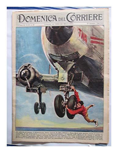 F - 1960 Rivista Illustrata Domenica del Corriere N°39 Aereo Azzorre Avventura Rapina Casinò Campione Rarità Collezionisti Pagine illustrate Vita vissuta Attualità Vintage Originale
