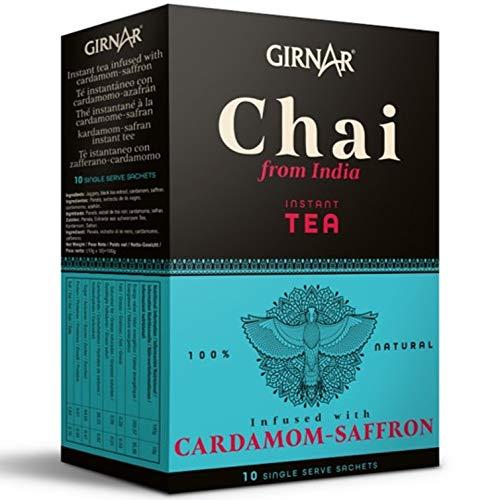 Chai Latte GIRNAR 100g (10 beutel) - Chai Kardamom-Safran - Chai - Chai tee - Indischer Chai Tee - Chai Tea - Chai Tee Portionsbeutel - Indian Chai - Chai Latte Teebeutel - Chai Tea Bags - Tee Chai