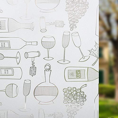 N / A Mattierte undurchsichtige Fensterscheibe aus Sichtschutzglas, Selbstklebende Folie gegen ultraviolettes Glas, verwendet für Dekorationsfolie für die Wohnküche A49 30x100cm