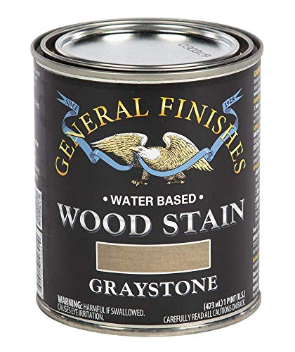 General Finishes Water Based Wood Stain, 1 Pint, Graystone