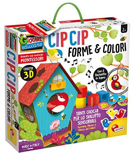 Liscianigiochi- Montessori Cip Forme E Colori Gioco Educativo, Multicolore, 80168