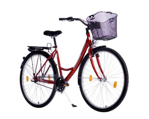 Karcher City Fahrrad Mono, 3-Gang Rücktrittbremsnabe, bordeaux, Rahmenhöhe: 48 cm, Reifengröße: 28 Zoll (71,1 cm), 280125