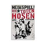 JHDSL Die Toten Hosen Punk Metallband Poster Dekorative