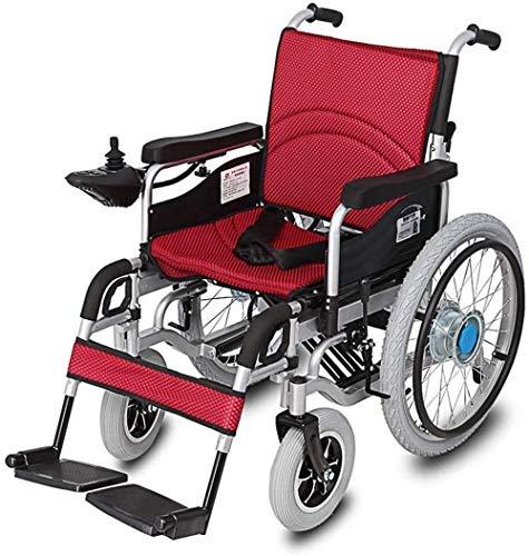 JYHJ Faltbare Power Compact Mobilitätshilfe Radstuhl, Leichter Klappträger-Elektrorollstuhl, motorisierter Rollstuhl, leistungsstarker Dual-Motor-Rollstuhl