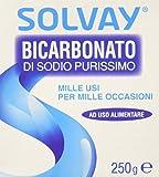 Solvay - Bicarbonato di Sodio, Purissimo, ad uso alimentare - 8 pezzi da 250 g [2 kg]