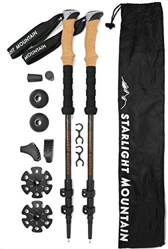 Starlight Mountain Outfitters Trekking Poles – Premium Lightweight Carbon Fiber Collapsible,...